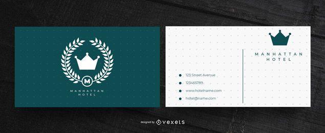 Design de cartão de visita do hotel