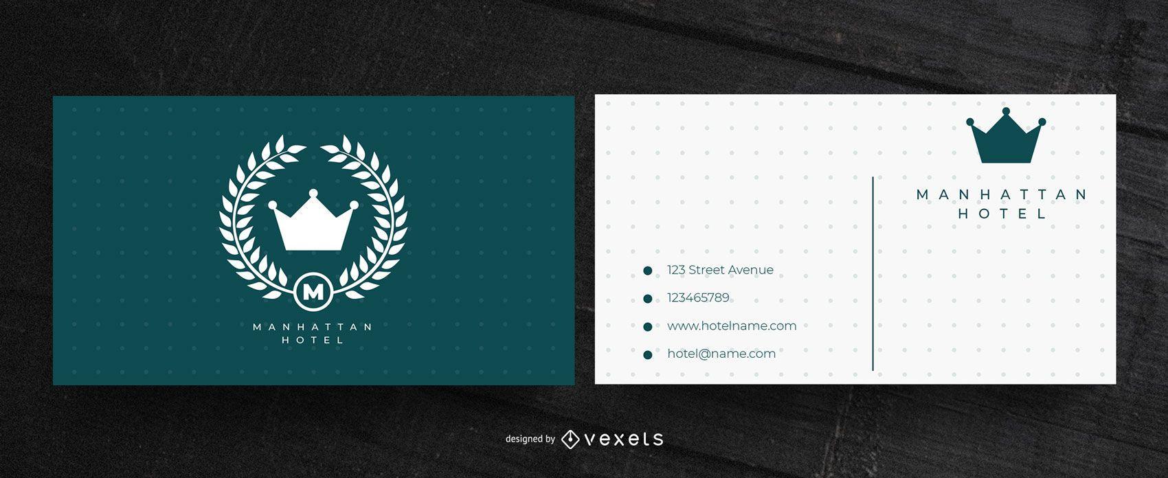 Hotel business card design
