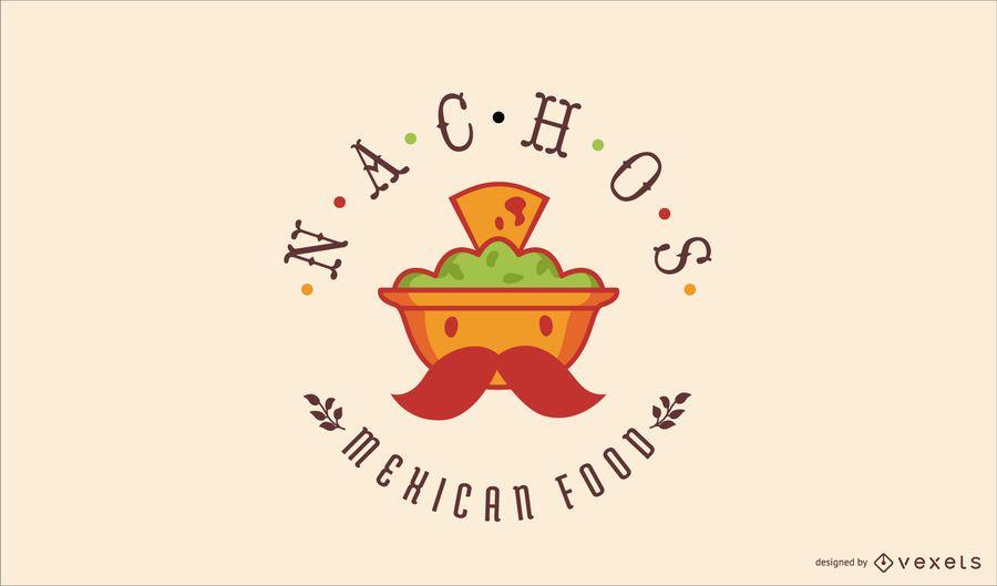 Design de logotipo de comida mexicana