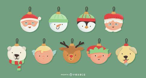 Nette Weihnachtsverzierungen