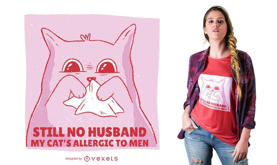 Allergic Cat Funny T-shirt Design