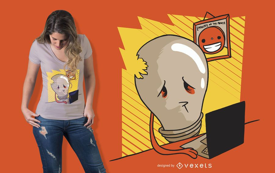 Sad Light Bulb T-shirt Design