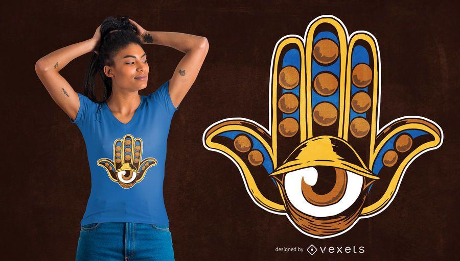 Hamsa Eye T-shirt Design