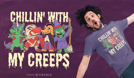 Halloween Tiere T-Shirt Design