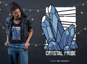 Design de camiseta de orgulho de cristal