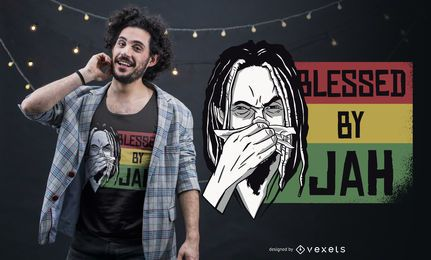 Bendito por el diseño de camiseta de Jah