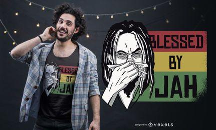 Diseño de camiseta bendecida por Jah