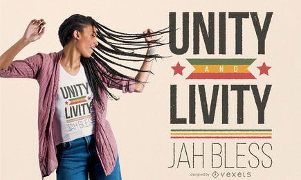 Design de t-shirt de letras Rastafari citação