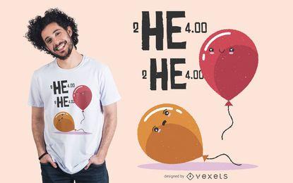 Diseño de camiseta de globo de helio Meme