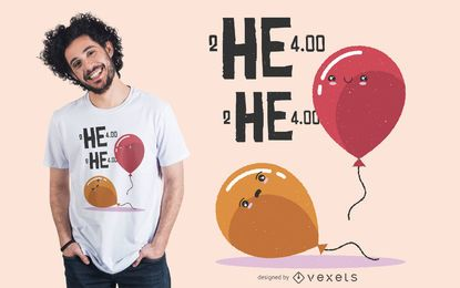 Helium Balloon Meme T-shirt Design