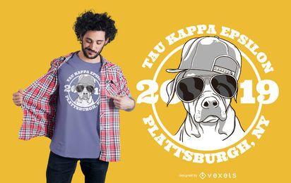 Projeto do t-shirt da fraternidade do cão