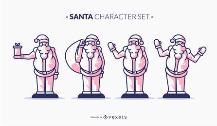 Santa duotone character set