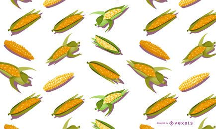 Design de padrão sem emenda de milho