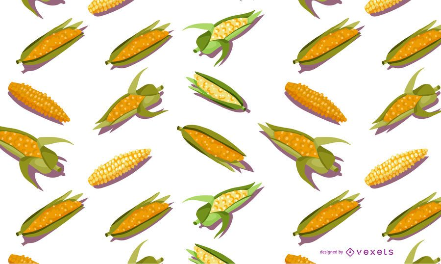 Corn seamless pattern design