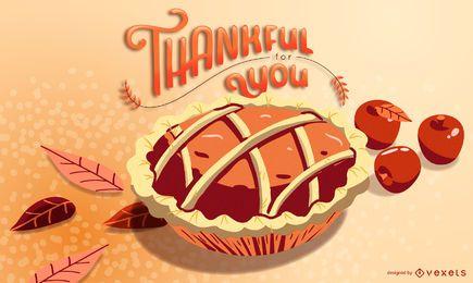 Projeto de ilustração de torta grato