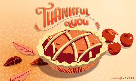 Thankful pie illustration design
