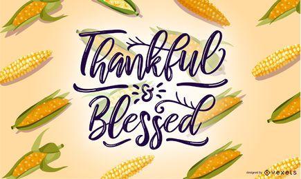 Agradecido pela iluminação de milho abençoado