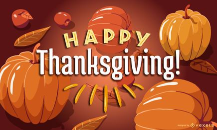 Happy thanksgiving pumpkins design