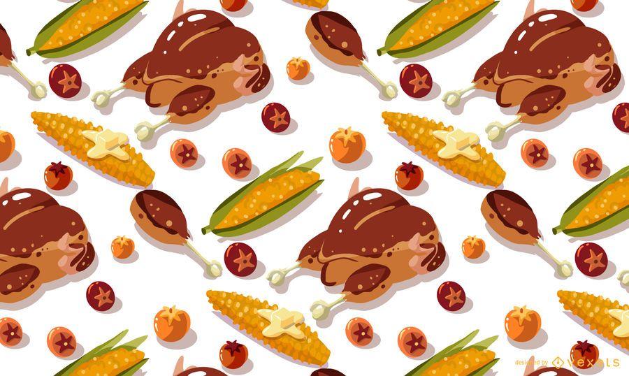 Thanksgiving-Lebensmittel-Musterdesign