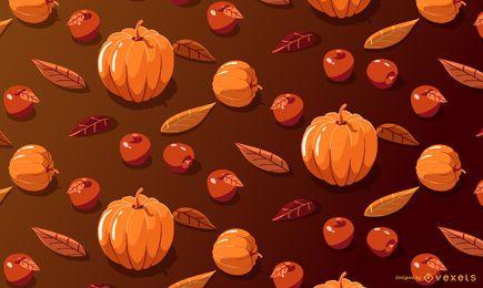 Patrón estacional de manzanas calabaza