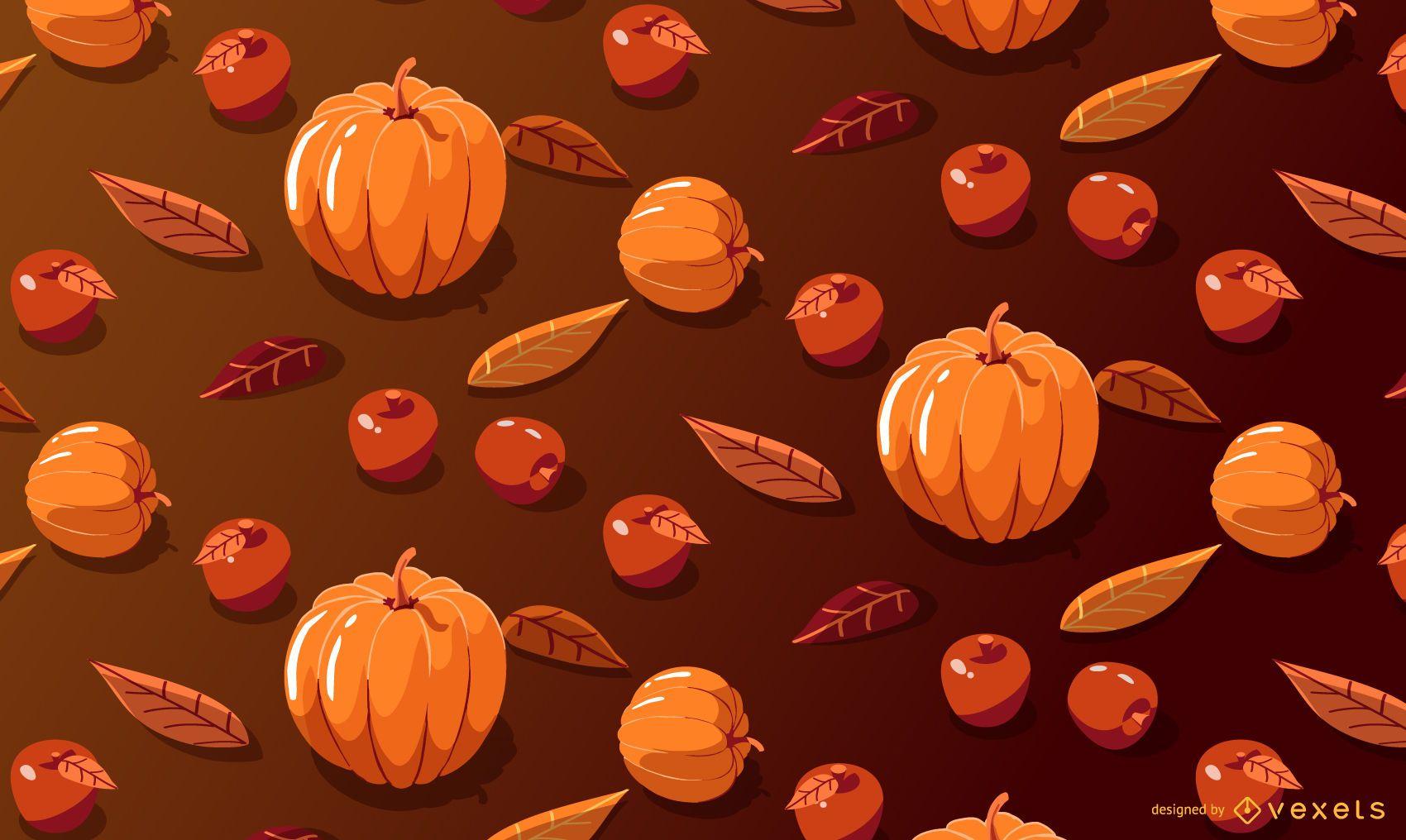 Pumpkin apples seasonal pattern