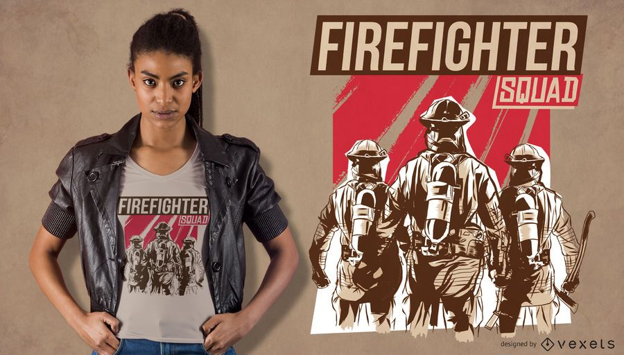 Firefighter Squad T-shirt Design