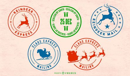 Conjunto de sellos postales del Polo Norte