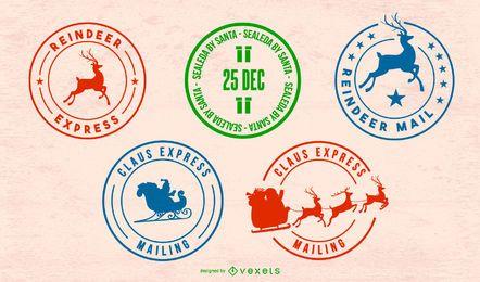 Conjunto de selo postal do Pólo Norte