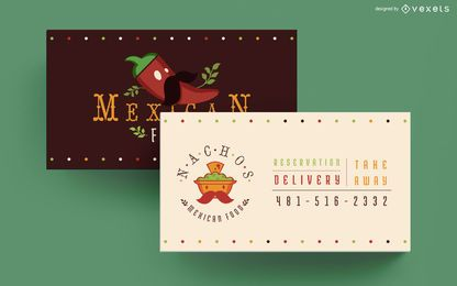 Visitenkarte des mexikanischen Lebensmittels