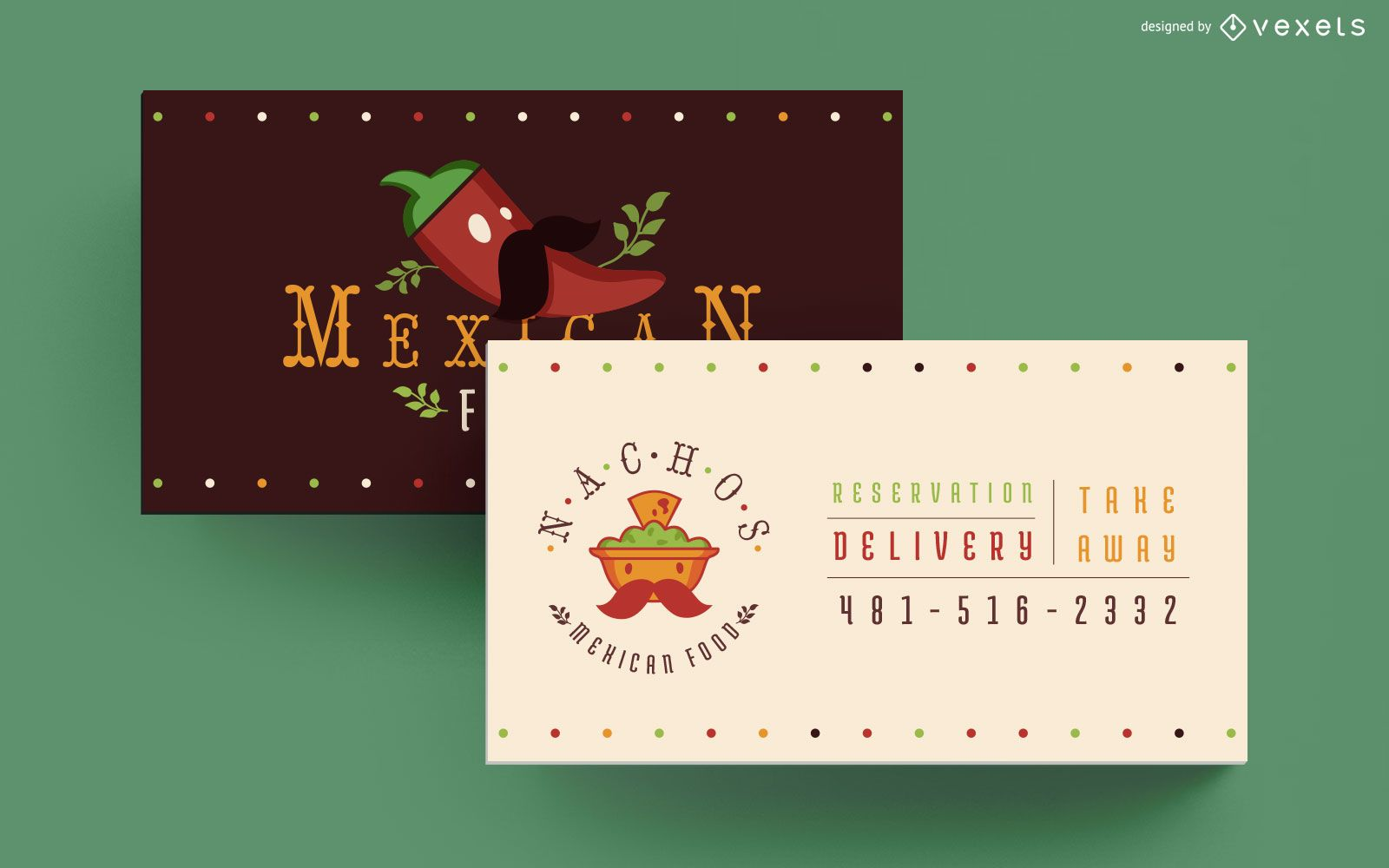 Mexican food business card