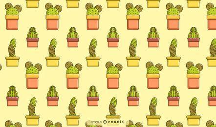 Kaktus-Muster-Design