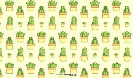 Diseño de patrón suculento de cactus