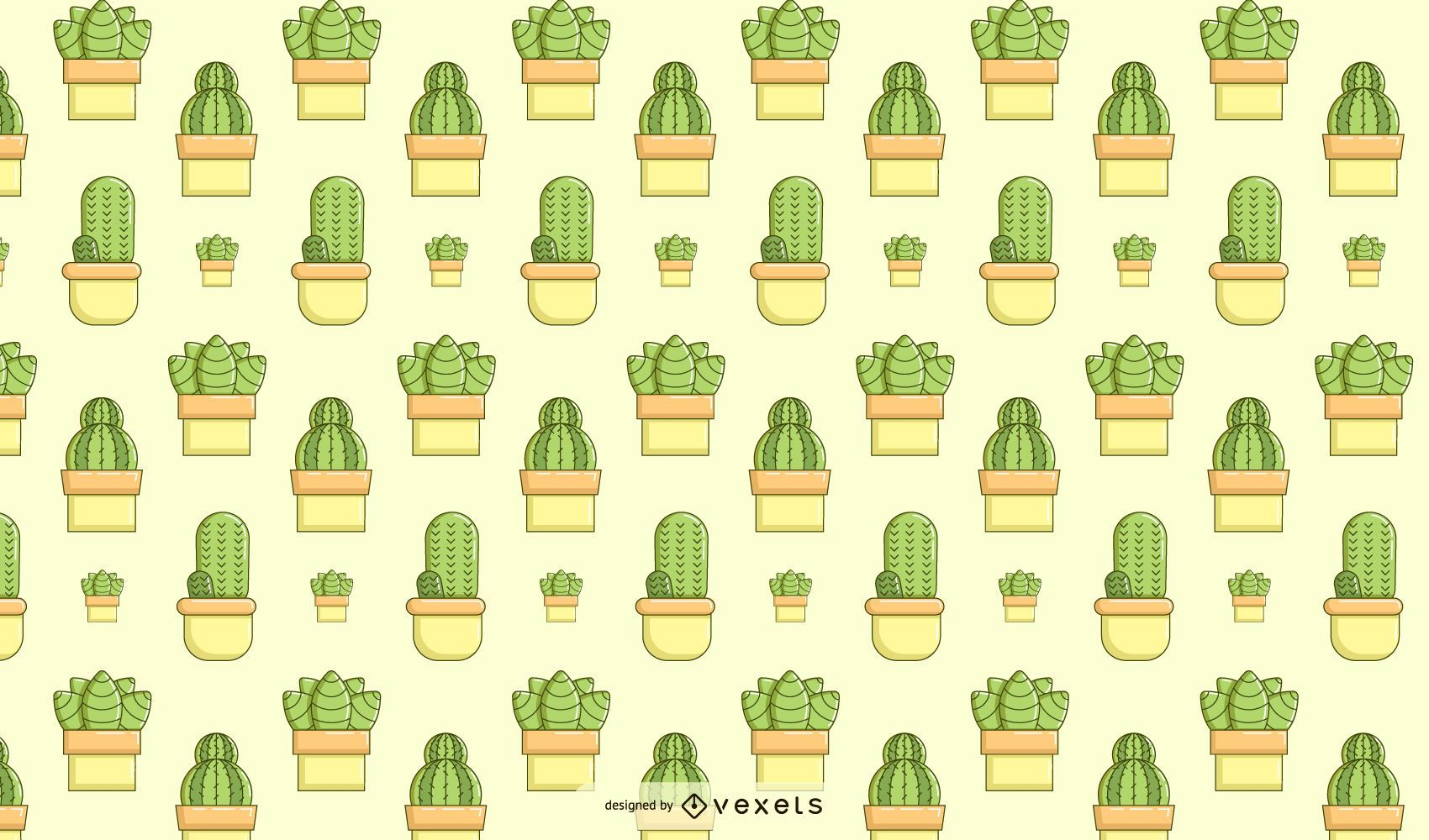 Cactus succulent pattern design