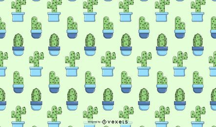 Cactus blue pattern design