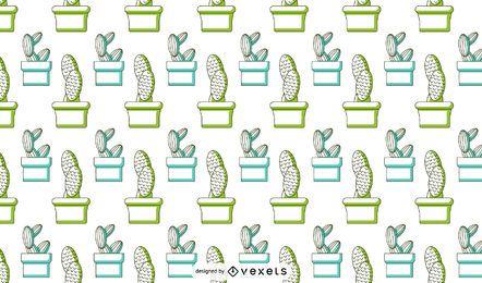 Cactus duotone pattern design