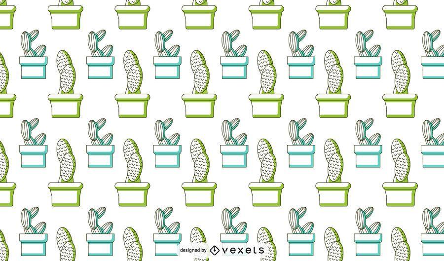 Diseño de patrón de duotono de cactus