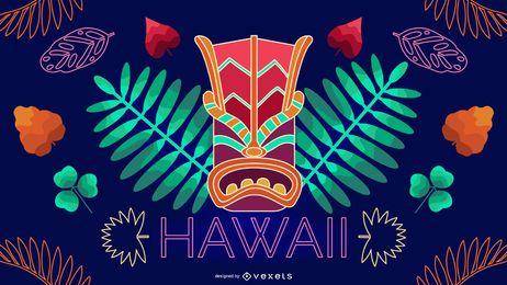 Design editável de néon havaiano