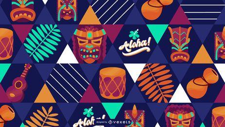 Desenho padrão havaiano