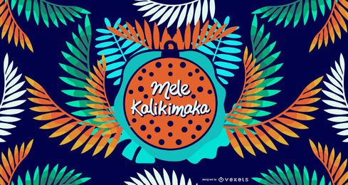 Diseño de hojas de mele kalikimaka