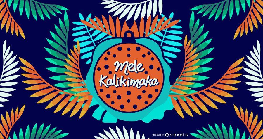 Mele kalikimaka leaves design