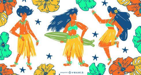 Conjunto de pessoas do Havaí