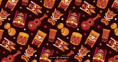 Hawaii elements pattern design