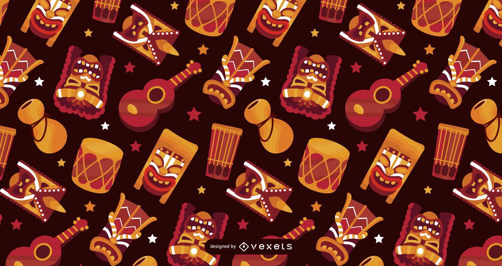 Diseño de patrón de elementos de Hawaii