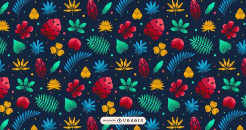 Hawaii Tropical Plant Pattern Design