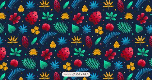 Hawaii tropische Pflanze Musterdesign