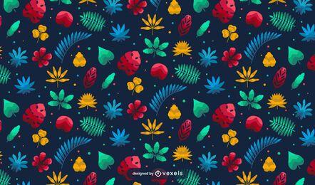 Design de padrão de planta tropical do Havaí