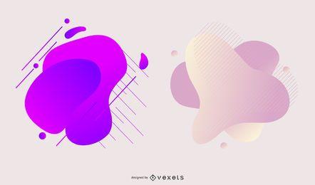 Pacote de design de mancha gradiente