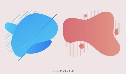 Pacote de Design de borrão de gradiente colorido