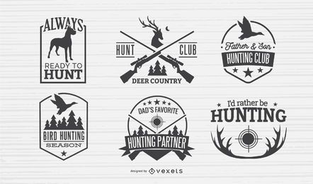 Hunting Badges Design Set