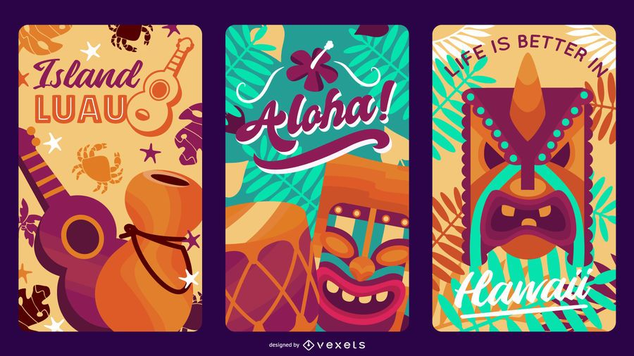 Hawaii Label Design Pack